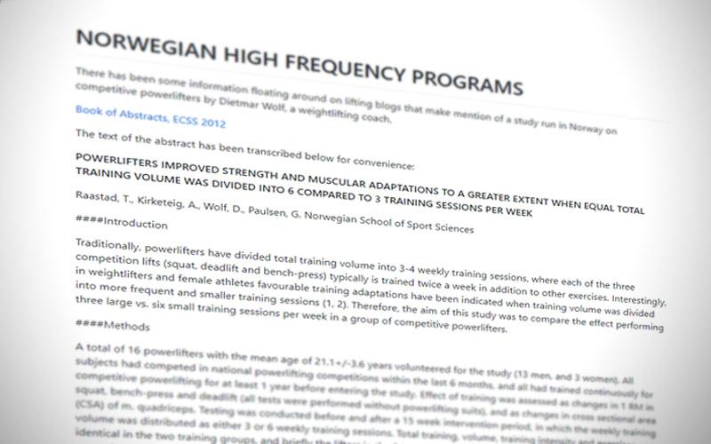 Illustrasjon av studien for det norske frekvensprosjektet