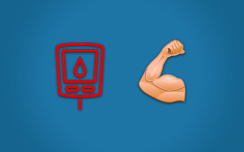 Illustrasjon til artikkel om styrketrening og diabetes type-2