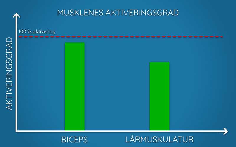 Illustrasjon av musklenes aktiveringsgrad