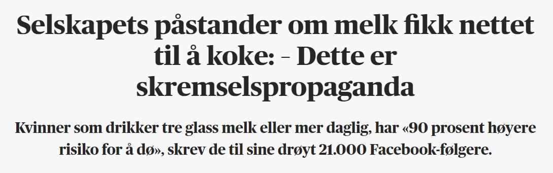 Utklipp fra Aftenposten med uttalelser fra Mari Krogshus